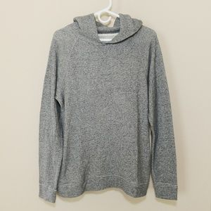 J CREW Knit Hoodie Sweatshirt Top Gray Large L
